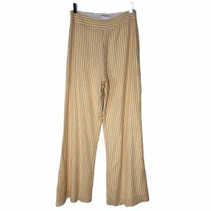 NEW Privacy Please Yellow Gold White Striped Pants